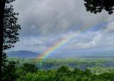 A VIVID WESTERN NORTH CAROLINA RAINBOW  -  AN HDR IMAGE