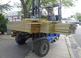 A DELIVERY OF MORE LUMBER FOR THE DECKING