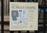 OUR GUIDE TOOK US TO ST. PAUL'S CHAPEL  -  AN IMPORTANT PLACE OF REFUGE ON THE DAY OF THE 9/11 ATTACK