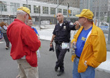 TALKING WITH A NYC PORT AUTHORITY POLICEMAN  -  HE THANKED US PERSONALLY FOR THE WORK WE WERE DOING