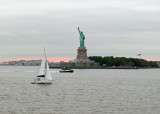 MANY OF OUR TEAM MEMBERS HAD NEVER SEEN THE STATUE OF LIBERTY  -  WE GOT A GREAT VIEW FROM THE FERRY