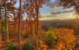 FALL LATE EVENING, DURING THE GOLDEN HOUR  -  AN HDR IMAGE