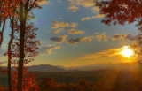 LATE EVENING SUNRAYS OVER WESTERN NORTH CAROLINA MOUNTAINS - AN HDR IMAGE