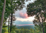 A PRETTY PINK CLOUD AT SUNSET - NEAR HENDERSONVILLE, IN WESTERN NORTH CAROLINA