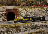 MODEL TRAIN LAYOUT  -  AT THE GREAT SMOKY MOUNTAIN RAILROAD MUSEUM - ISO 3200