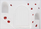 03 Geometrical Study (White Door, Red Stones)
