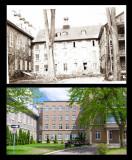 Cour intérieure du collège de L'Assomption vue de la rue Sainte-Anne