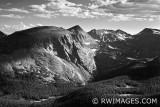 ROCKY MOUNTAIN NATIONAL PARK COLORADO - BLACK AND WHITE