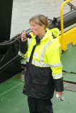 Clearing the ramp on the ferry to Iona