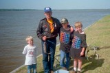 1992 - Catching catfish on a campout at Martin Dies State Park