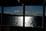 Sun reflection on the starboard side