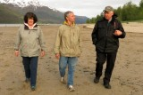 On the beach of Douglas Island with Leo and Llewellyn
