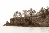 St. Lazaria Island in sepia