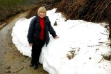 Snow bank on Mt. Roberts in Juneau