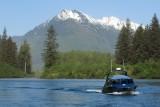 Jet boat on the Stikine River