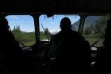 Jet boat pilot on the Stikine River