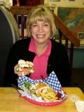 Halibut sandwich feast in Talkeetna