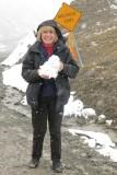 Playing in the snow in Atigun Pass