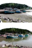 Low tide and high tide on the Bay of Fundy - for John Cooper