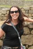 Fellow traveler at Machu Picchu