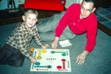 1955 - Playing Sorry with my dad