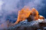 Rising mists, Schnebly Hill, Sedona, AZ