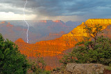 Lightning near Mather Point, Grand Canyon National Park, AZ