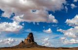 Agathla Peak, a volcanic neck near Kayenta, AZ