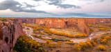 Sunset at Tsegi Overlook, Canyon De Chelly National Monument, AZ