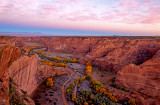 Sunrise from White House Overlook, Canyon De Chelly National Monument, AZ