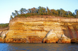 Mineral stained cliffs at Pictured Rocks National Lakeshore, MI