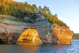 Backside of Lovers Leap, Pictured Rocks National Lakeshore, MI