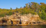 Cliffs along Lake Superior Shoreline, Pictured Rocks National Lakeshore, MI