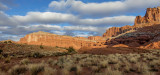 Sandstone wall creates the reef at Capitol Reef National Park, UT