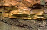 Nonconformity with Cambrian Potsdam Sandstone overlying Precambrian Geiss at Alexandria Bay, NY