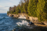 Waves breaking at Cave Point State Park, Door County, WI