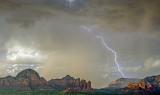 Lightning over the Coffee Pot, Sedona, AZ
