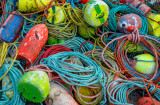 Bouys and ropes, Peggys Cove, Nova Scotia