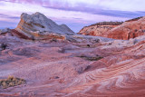 After sunset glow, White Pocket, Vermilion Cliffs National Monument, AZ