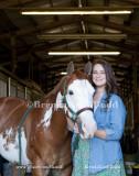 Katelyn Senior Portraits with Horse