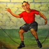 Young devil jumps rope