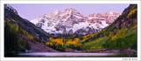 Maroon Lake, Twilight, Maroon Bells Snowmass Wilderness, Colorado, 2013
