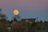 Super moonrise in suburban Pennsylvania