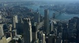 Right to left  Brooklyn , Manhattan, Williamsburg bridges  span the East River