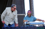 Steve Parish and Barry Sless share a laugh before the Moonalice set