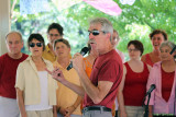 Warren Haskell introduces the Doin' It Justice Chorus