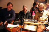 Kyle Porter, Bill DeBlonk, and Terre Reynolds help broadcast the show live on KZFR-FM and kzfr.org