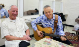 Bob Littell and Tommy Emmanuel, pre-show