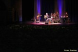 Arlo Guthrie and the band: Guthrie's son Abe on keyboards, Bobby Sweet on guitar, and drummer Terry A La Berry
