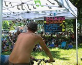 Bike pedaling powered the stage